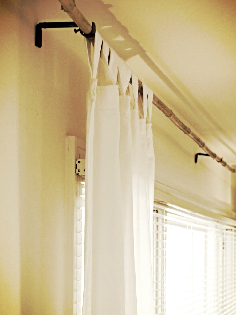 {$2 thrift store curtain panels}