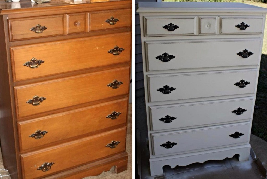 {a gifted chest of drawers...before and after}